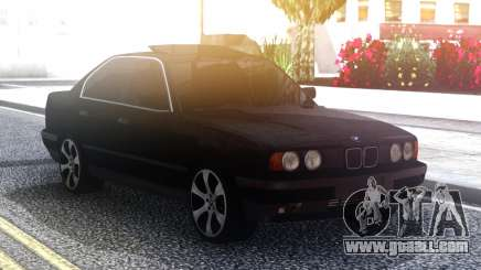 BMW 535 Black Original Sedan for GTA San Andreas