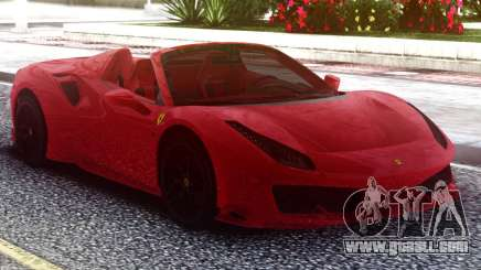 Ferrari 488 Pista Spider 2019 Roadster for GTA San Andreas