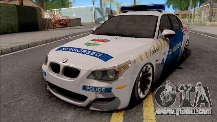 BMW M5 E60 Magyar Rendorseg for GTA San Andreas
