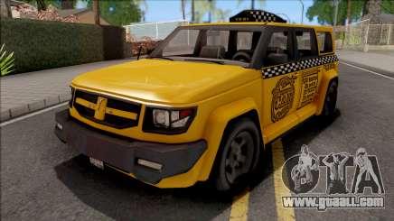 Saints Row IV Steer Taxi IVF for GTA San Andreas
