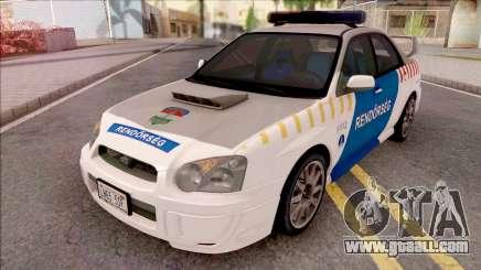 Subaru Impreza WRX STi 2004 Magyar Rendorseg for GTA San Andreas