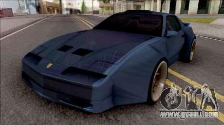 Pontiac Trans AM 1987 Blue for GTA San Andreas