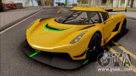 Koenigsegg Jesko 2019 for GTA San Andreas