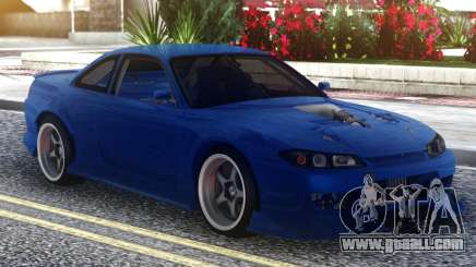 Nissan Silvia S15 Blue for GTA San Andreas
