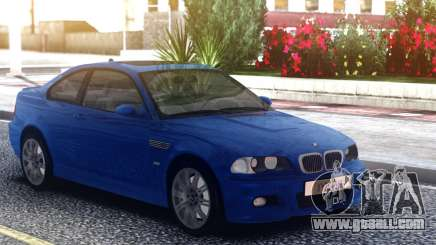 BMW M3 E46 Blue Coupe for GTA San Andreas