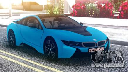 BMW i8 Blue for GTA San Andreas