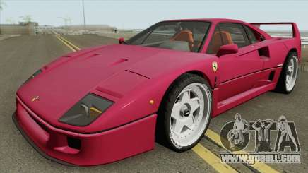 Ferrari F40 1987 HQ for GTA San Andreas