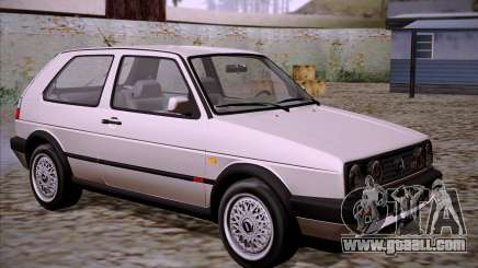 Volkswagen Golf 2 GTI Transit Plates for GTA San Andreas