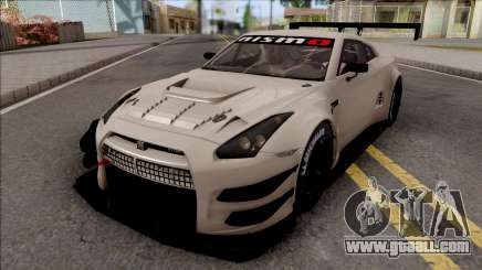 Nissan GT-R Nismo GT3 2014 Paint Job Preset 3 for GTA San Andreas