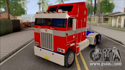Kenworth K100 Optimus Prime Repintado  for GTA San Andreas