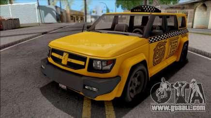 Saints Row IV Steer Taxi for GTA San Andreas