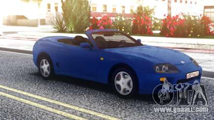 Toyota Supra Cabrio Blue for GTA San Andreas