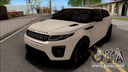 Land Rover Range Rover Evoque White for GTA San Andreas