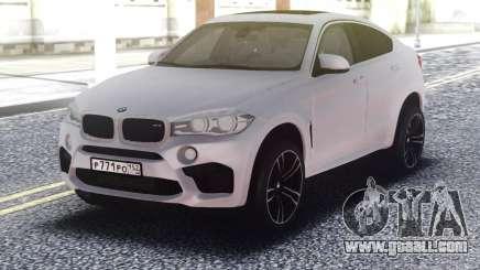 BMW X6M White Original for GTA San Andreas