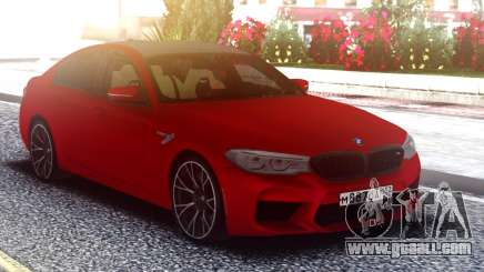 BMW M5 F90 Original Red for GTA San Andreas