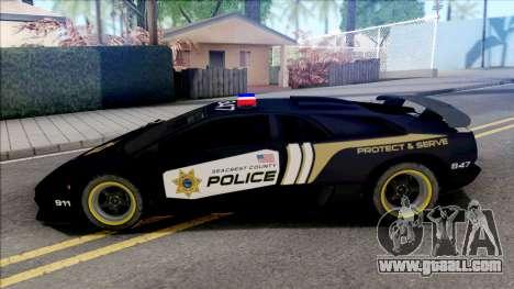 Lamborghini Diablo SV Police NFS Hot Pursuit for GTA San Andreas