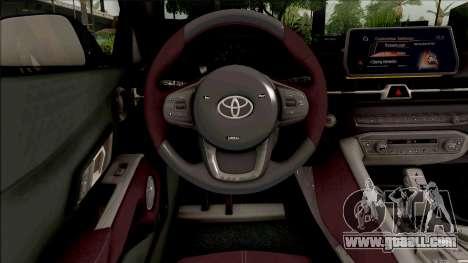 Toyota GR Supra 2019 for GTA San Andreas