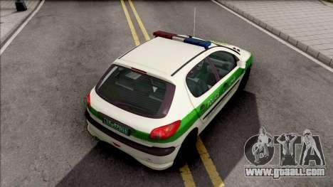 Peugeot 206 Iranian Police for GTA San Andreas