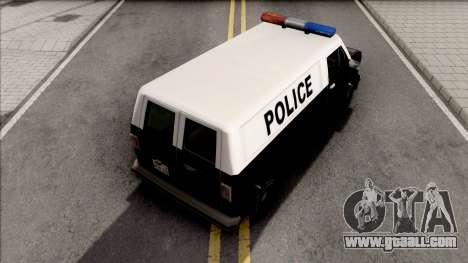 Declasse Burrito Police Van for GTA San Andreas