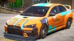 Mitsubishi Lancer Evo X PJ2 for GTA 4