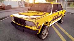 VAZ-2107 Gold Chrome Baku for GTA San Andreas