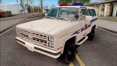 Chevrolet Blazer 1985 Hometown Police for GTA San Andreas