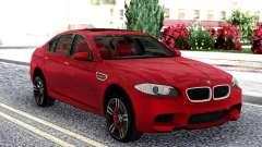 BMW M5 F10 Red Sedan for GTA San Andreas