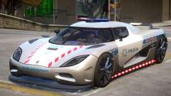 Koenigsegg Agera Highway Police for GTA 4
