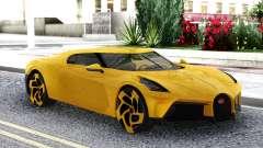 Bugatti La Voiture Noire 2019 Yellow Coupe for GTA San Andreas