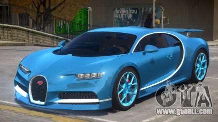 2017 Bugatti Chiron wheel blue for GTA 4