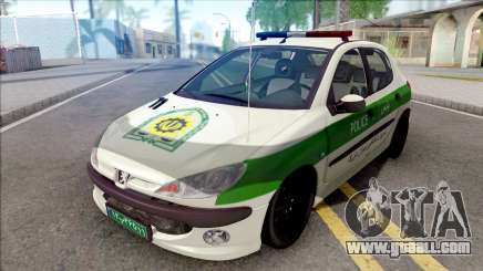 Peugeot 206 Iranian Police for GTA San Andreas
