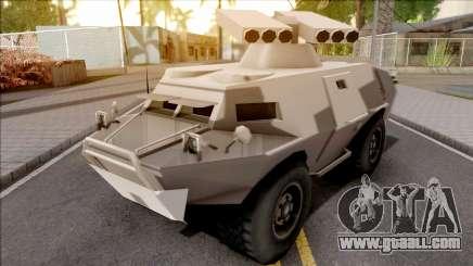 GTA V HVY APC S.A.M. Turret SA Style for GTA San Andreas