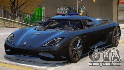 Koenigsegg Agera Police V1 for GTA 4