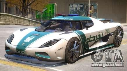 Koenigsegg Agera Police PJ4 for GTA 4