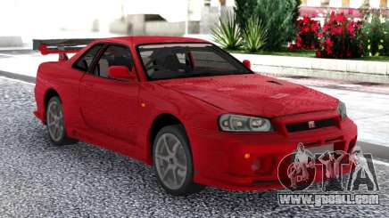 Nissan Skyline GT-R R34 V-Spec II Red Coupe for GTA San Andreas