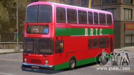 BRTC Double Decker Bus for GTA 4