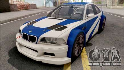 BMW M3 GTR NFS Most Wanted for GTA San Andreas