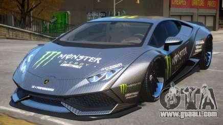 Lamborghini Huracan PJ Monster for GTA 4