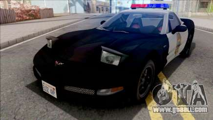 Chevrolet Corvette 1999 Hometown Police for GTA San Andreas