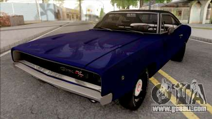 Dodge Charger 1968 Blue for GTA San Andreas