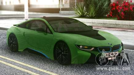 BMW I8 2018 Green for GTA San Andreas