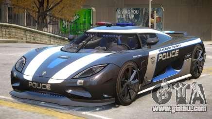 Koenigsegg Agera Police PJ3 for GTA 4