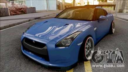 Nissan GT-R Spec V Stance Blue for GTA San Andreas