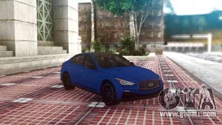 Infiniti Q50 Blue Sedan for GTA San Andreas
