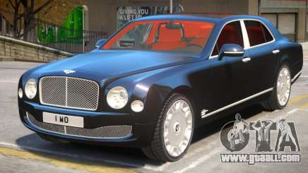 Bentley Mulsanne V1.1 for GTA 4