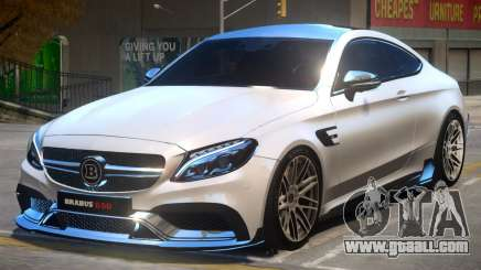 Mercedes Benz C63 Brabus V2 for GTA 4