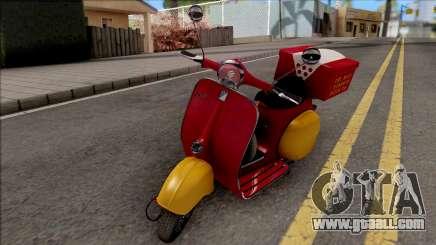 Piaggio Vespa VNB 125 Pizzaboy IVF for GTA San Andreas