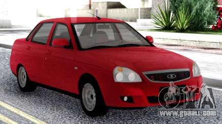 Lada Priora Red Sedan for GTA San Andreas