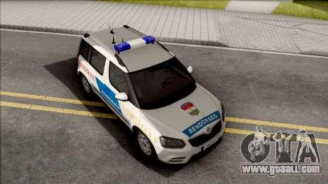 Skoda Yeti Magyar Rendorseg for GTA San Andreas