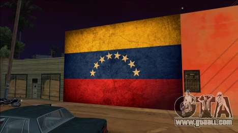 Venezuela flag on the wall for GTA San Andreas